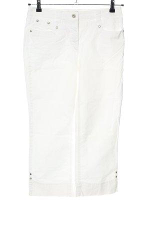 Adagio Pantalon 7/8 blanc style décontracté