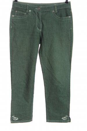 Adagio Jeans a 7/8 verde stile casual