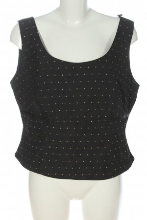Adagio Sleeveless Blouse black-gold-colored allover print casual look