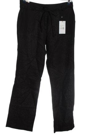 Adagio Luźne spodnie czarny W stylu casual