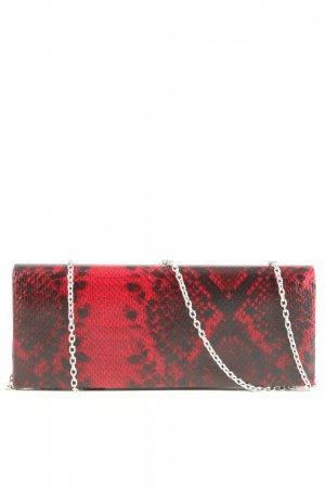 Adagio Clutch red-black animal pattern casual look