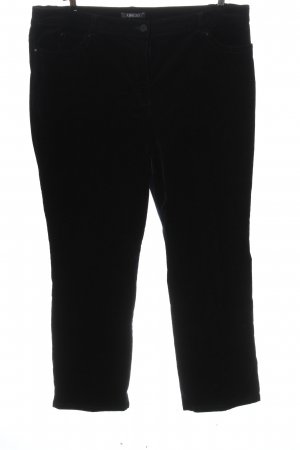 Adagio Corduroy Trousers black casual look