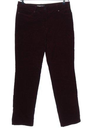 Adagio Pantalone di velluto a coste marrone stile casual