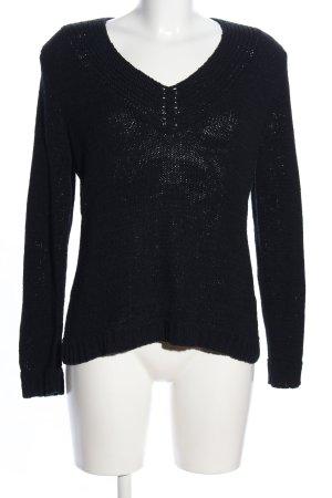 Adagio Jersey de punto grueso negro look casual
