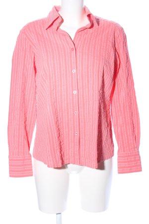 Adagio Hemd-Bluse pink-weiß Streifenmuster Casual-Look