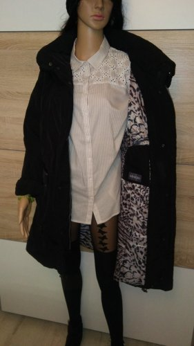 Adagio Abrigo de invierno negro tejido mezclado