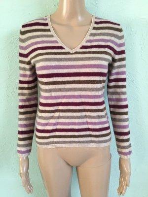 Adagio Jersey de punto púrpura-color plata tejido mezclado