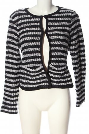 Adagio Cardigan black-white striped pattern casual look