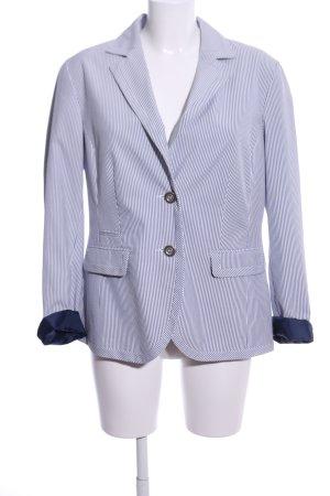 Adagio Kurz-Blazer blau-weiß Streifenmuster Business-Look