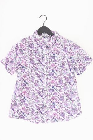 Adagio Short Sleeved Blouse lilac-mauve-purple-dark violet cotton