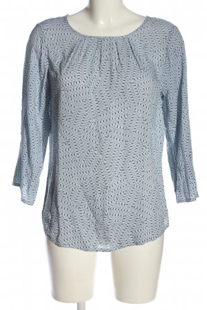 Adagio Long Sleeve Blouse blue-white allover print casual look