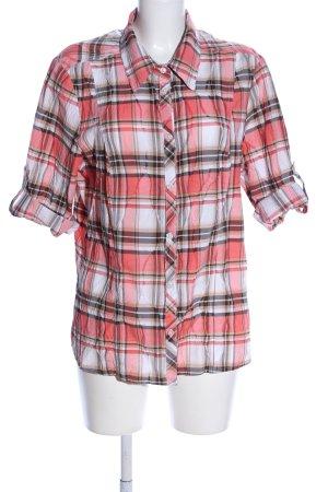Adagio Shirt met lange mouwen geruite print casual uitstraling