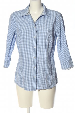 Adagio Long Sleeve Shirt blue-white allover print casual look
