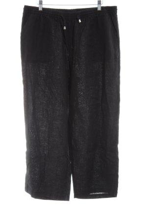 Adagio Pantalon en lin noir style décontracté