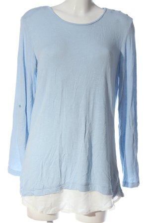 Adagio Top à manches longues bleu-blanc style décontracté