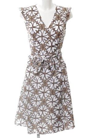Adagio Vestido a media pierna color bronce-blanco look casual