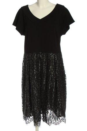 Adagio Midi Dress black-light grey mixed pattern classic style