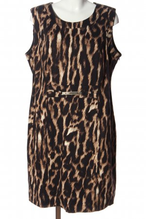 Adagio Sheath Dress brown allover print business style