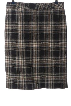 Adagio Falda de tubo marrón-blanco puro estampado a cuadros look casual