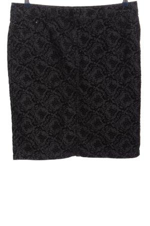Adagio Minifalda gris claro-negro estampado con diseño abstracto look casual