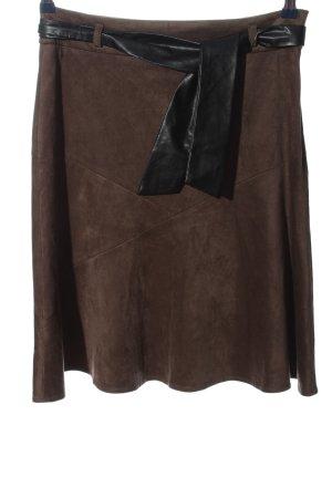 Adagio Mini rok bruin-zwart casual uitstraling
