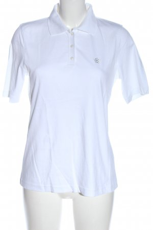 Adagio Polo shirt wit casual uitstraling