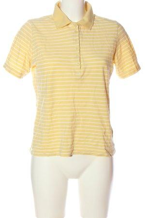 Adagio Camiseta tipo polo amarillo pálido-blanco estampado a rayas look casual