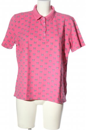 Adagio Polo Shirt pink-white allover print casual look