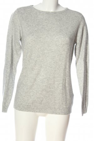 Adagio Crewneck Sweater light grey flecked casual look