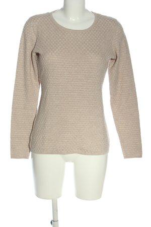 Adagio Kraagloze sweater roze Webpatroon casual uitstraling