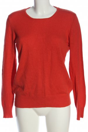 Adagio Kraagloze sweater rood casual uitstraling