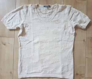 ADAGIO Shirt Kurzarm Strick Pullover Herbst/Winter Warm Soft Kuschlig Sand L 40