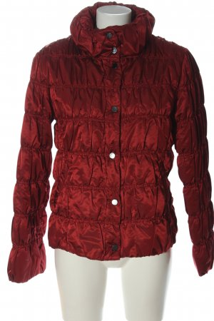 Adagio Veste matelassée rouge motif de courtepointe style décontracté