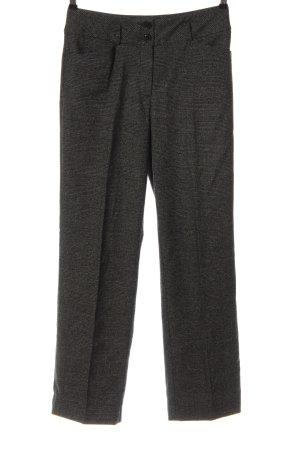 Adagio Jersey Pants black-light grey check pattern business style