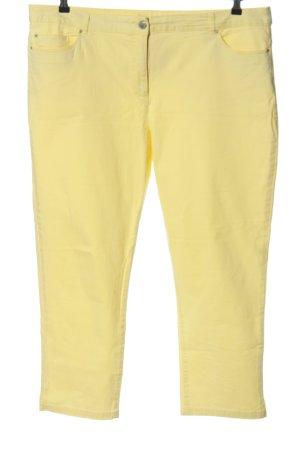 Adagio Jeans coupe-droite jaune primevère style décontracté