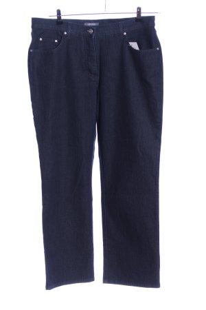 Adagio Jeans met rechte pijpen blauw casual uitstraling