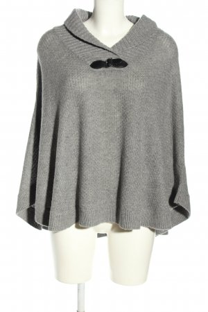 Adagio Knitted Poncho light grey flecked casual look