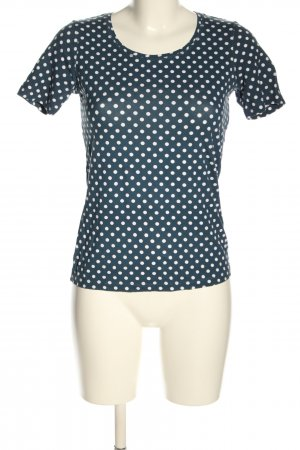 Adagio T-Shirt blue-white spot pattern casual look