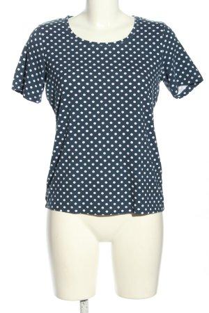 Adagio T-shirt bleu-blanc imprimé allover style décontracté