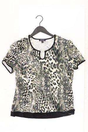 Adagio T-Shirt Größe 44 mit Tierdruck Kurzarm schwarz aus Viskose