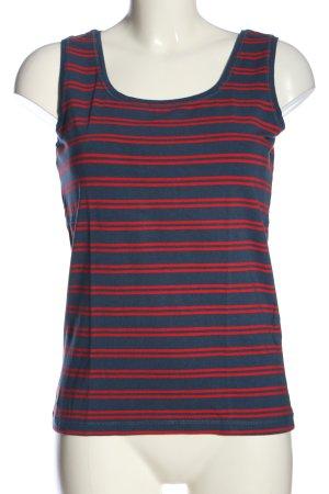 Adagio Camiseta sin mangas azul-rojo estampado a rayas look casual