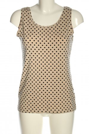 Adagio Tank Top cream-black spot pattern casual look