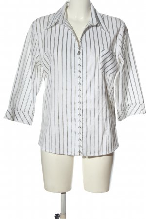 Adagio Short Sleeve Shirt white-black striped pattern business style