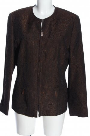 Adagio Between-Seasons Jacket brown allover print business style