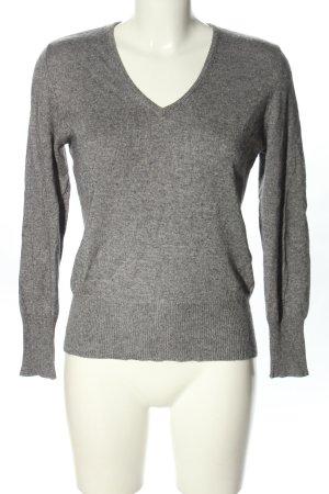 Adagio Jersey con cuello de pico gris claro moteado look casual