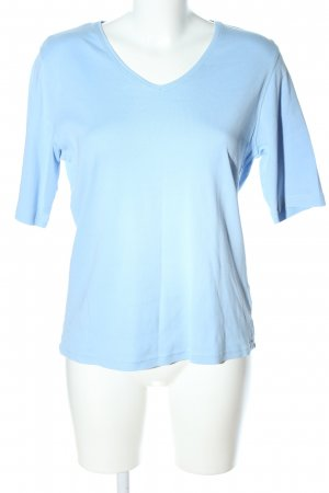 Adagio V-hals shirt blauw casual uitstraling