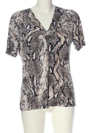 Adagio V-Neck Shirt cream-black allover print casual look