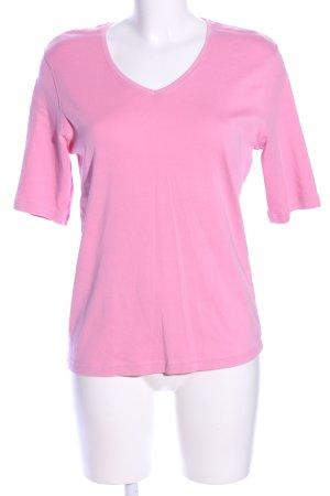 Adagio T-shirt col en V rose style décontracté