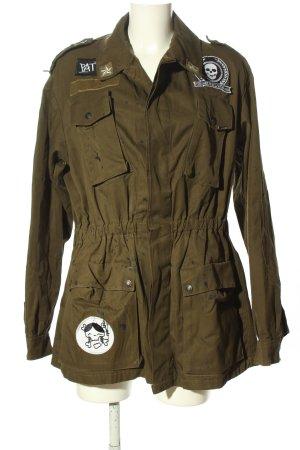 Adamus Military Jacket brown themed print casual look