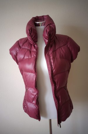 Add Gilet en duvet rouge carmin